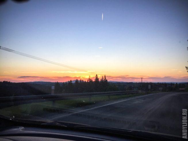Закат в регионе Закопане