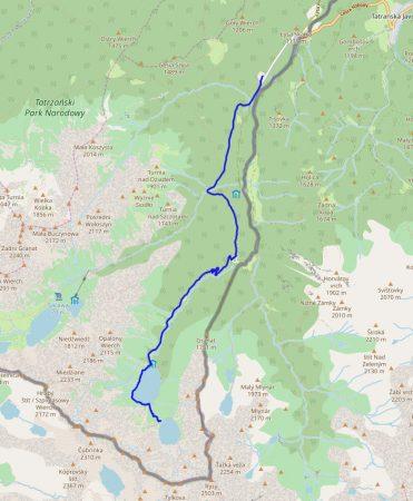 Трек от Черного озера через Морское Око и до Palenica Białczańska