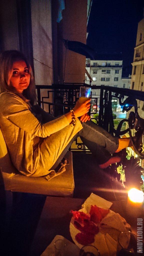 Тихий вечер на балконе в Будапеште