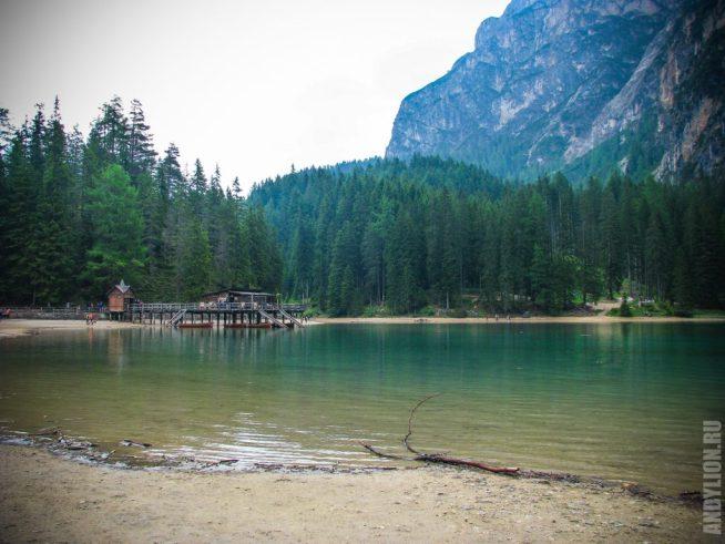 Доломитовые Альпы. Озеро Брайес