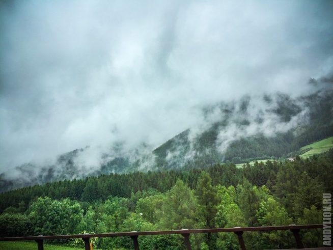 Альпы в дымке