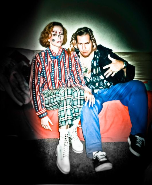 Andy and Nanelle Newbom- born misfits and punks.