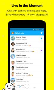 snapchat app friends list
