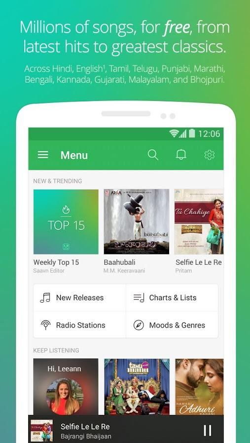 Download Saavn Music & Radio Android App for PC/ Saavn Music & Radio on PC