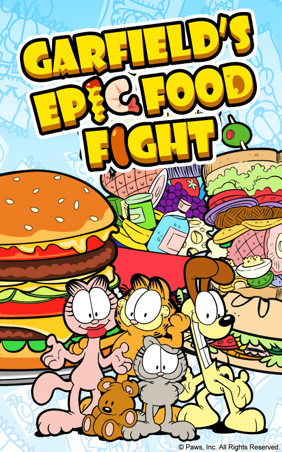 Download Garfield's Epic Food Fight Android App for PC/ Garfield's Epic Food Fight on PC