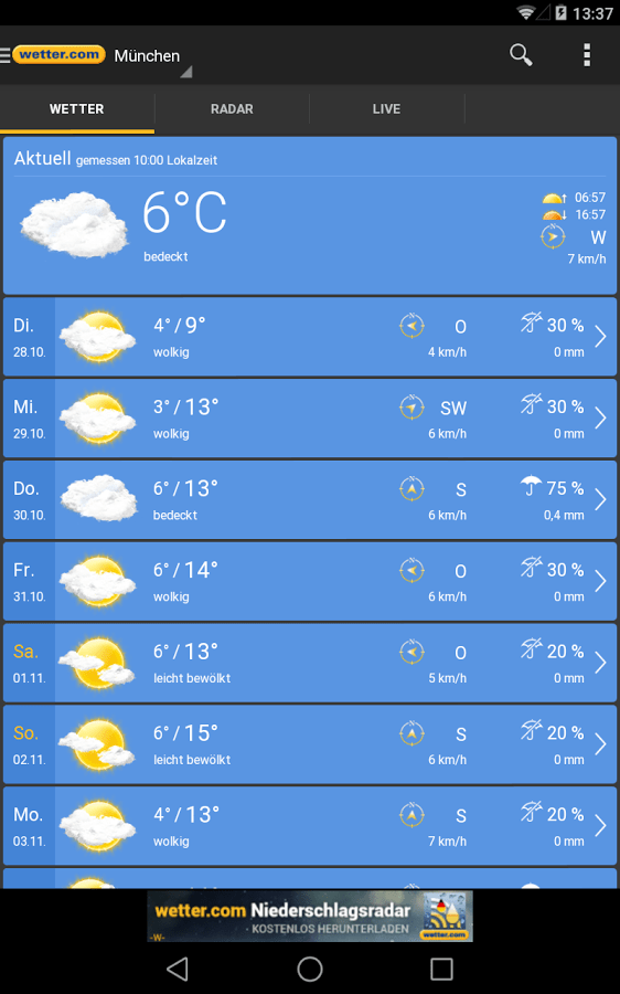 Download Wetter.com Android app for PC/ Wetter.com on PC