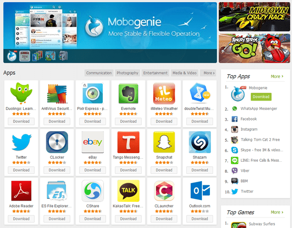 Download Mobogenie Android APK