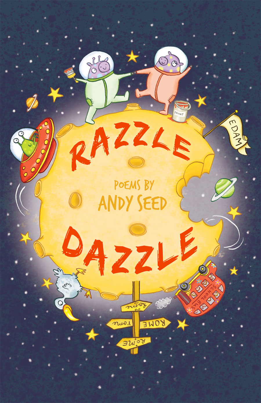 Cover for Razzle Dazzle, a book of poems by Andy Seed