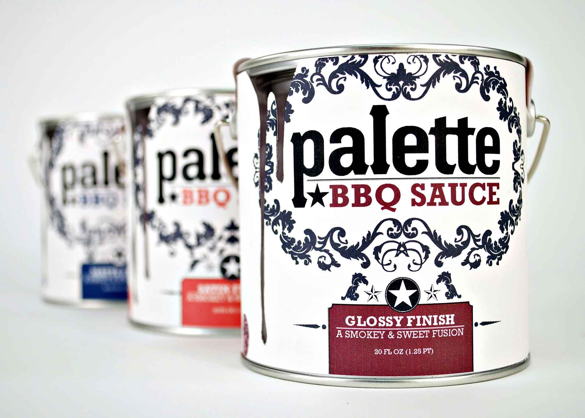 Palette BBQ Sauce Package Design