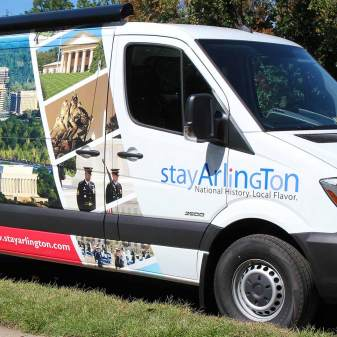 Stay Arlington Van Wrap