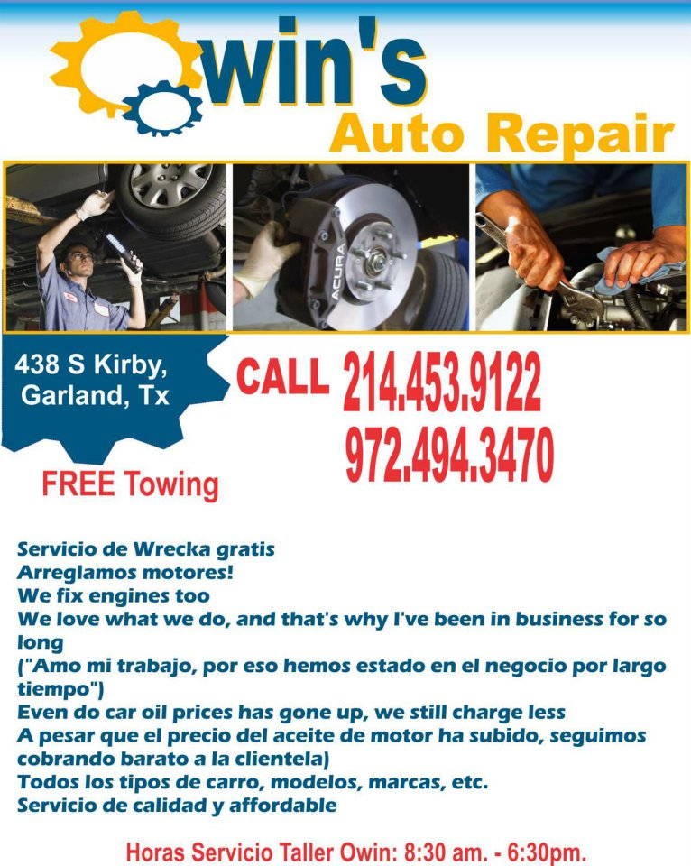 Auto Repair Dallas, Auto repair cars, Free Towing?