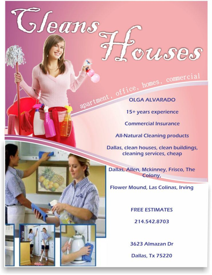 Housekeeper Dallas, housekeeping, limpieza de casas en dallas, limpieza plano
