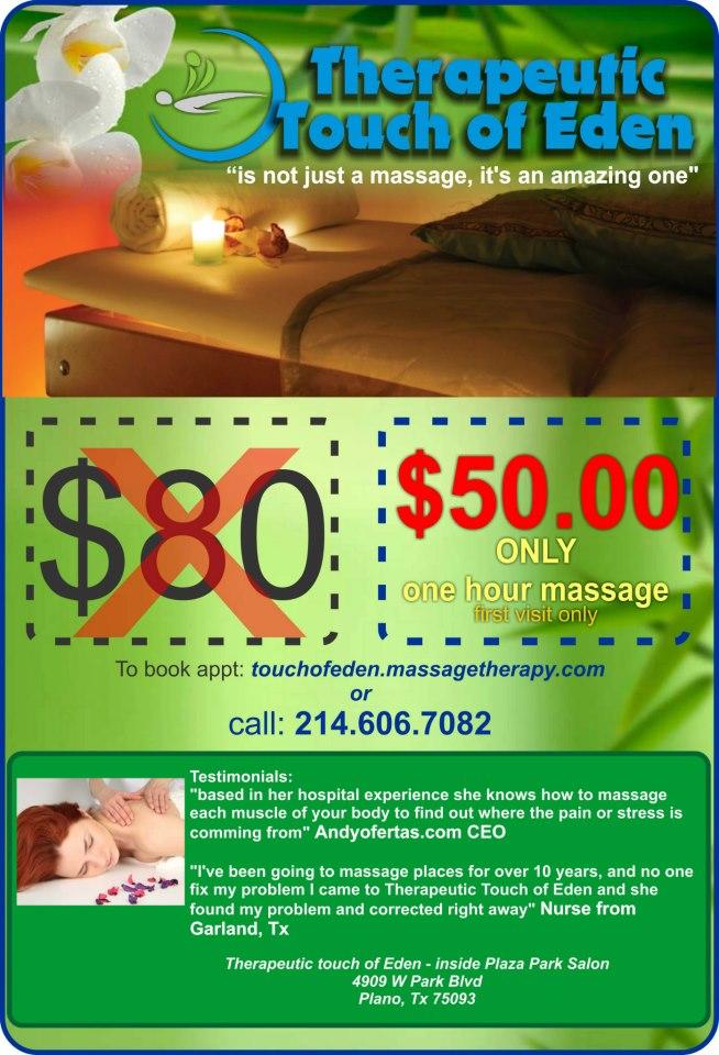 massage coupon