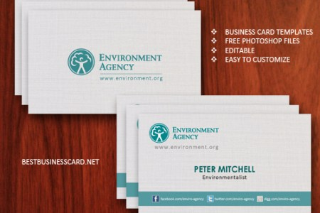 40  Best FREE Business Card Templates in PSD File Format Free Eco Friendly Business Card Template