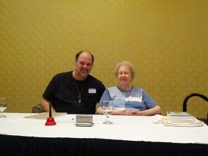 Past life regression hypnosis teacher, Dolores Cannon with Andy Sway