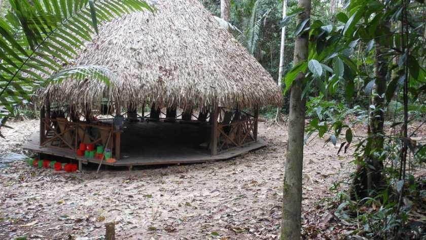 Ayahuasca Maloca in Peruvian Amazon