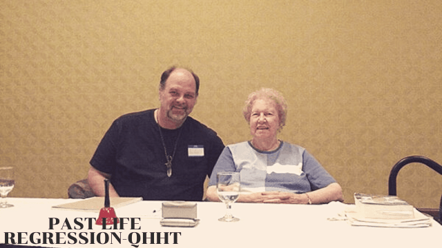 Andy Sway and Dolores Cannon in Springdale Arkansas in 2013 at the QHHT Past Life Regression Level 2 workshop.