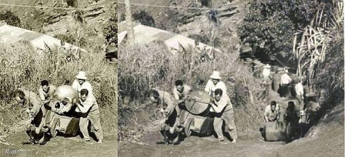 Resultado de imagen para giants skeletons photoshop before and after
