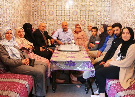 Guantanamo prisoner Abdul Latif Nasser's family in Casablanca, Morocco (Photo: Jessica Schulberg for the Huffington Post).