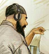 Ibrahim al-Qosi, at a pre-trial hearing on August 27, 2004