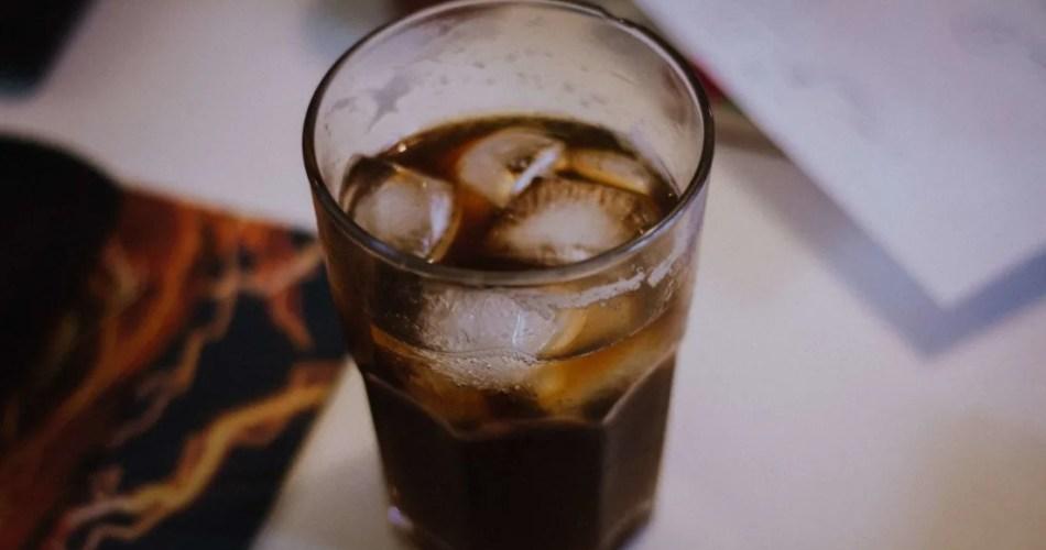 un verre de soda