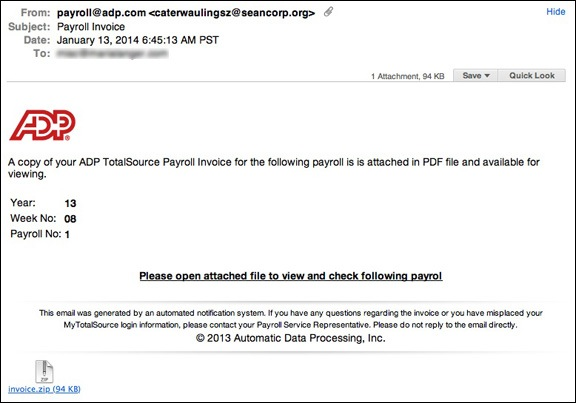 ADP Payroll Invoice Scam An Eclectic Mind - Adp open invoice help