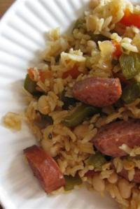 Turkey-Sausage and White Bean Jambalaya