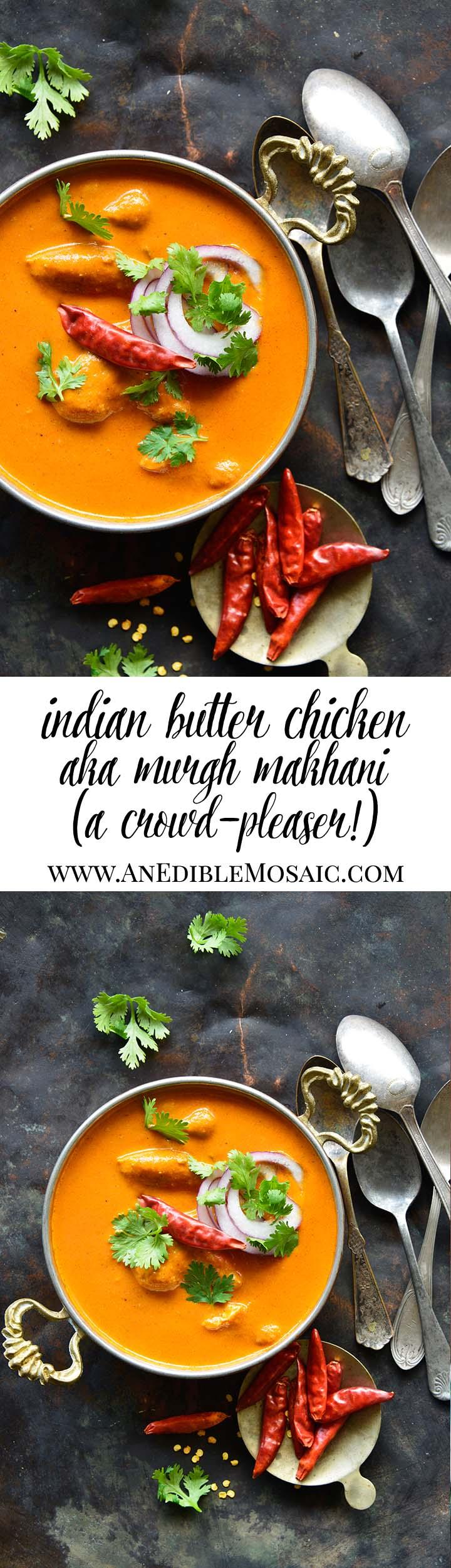 Indian Butter Chicken Recipe (Murgh Makhani) Long Pin