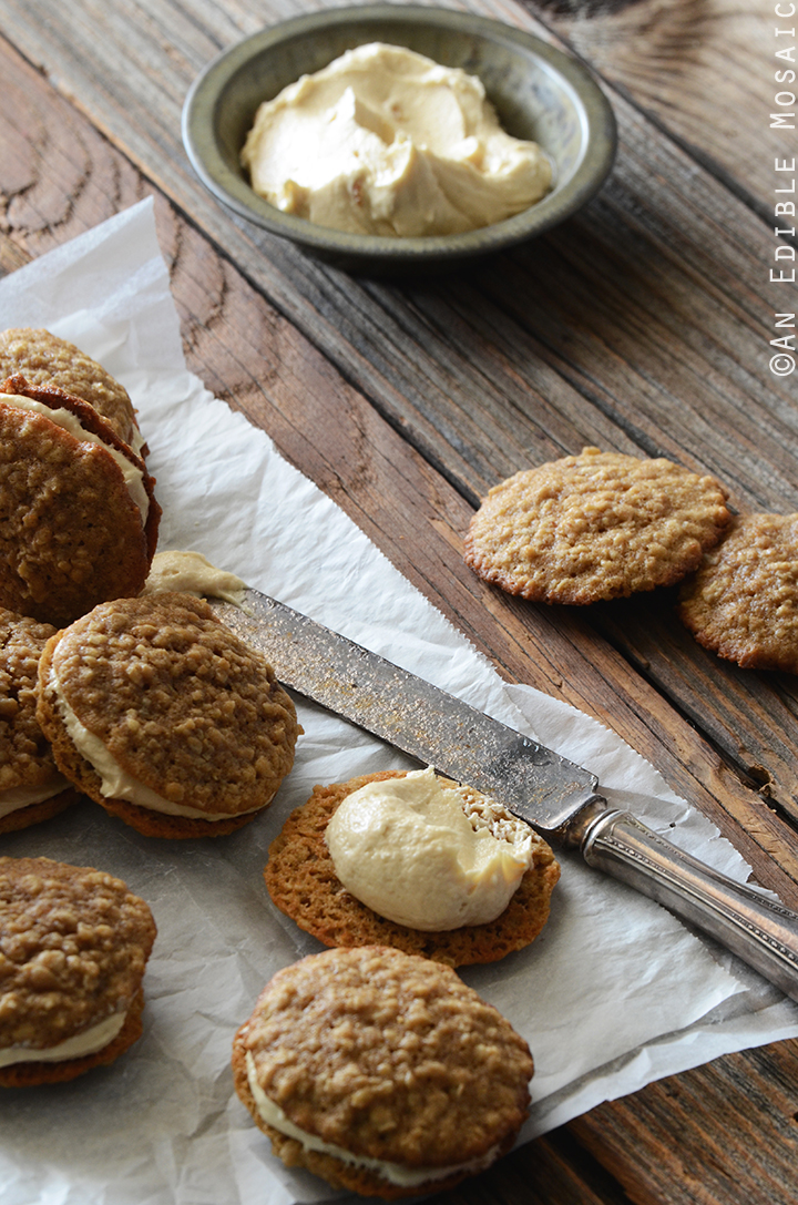 Oatmeal Cream Pies with Rum-Raisin Brown Sugar Buttercream Frosting 3