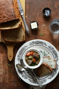 Guinness Beef Stew and Irish Brown Soda Bread