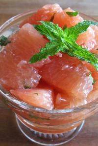 Pink Grapefruit Supremes with Honey & Mint — Christmas Brunch