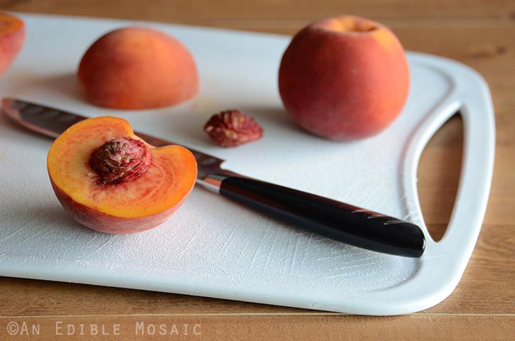 Peaches on Cutting Board