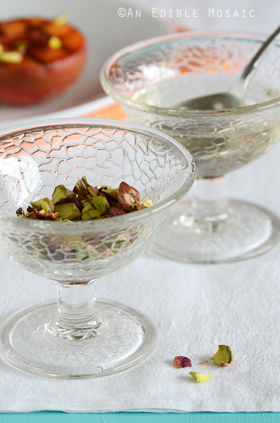 Pistachios and Orange Blossom Syrup