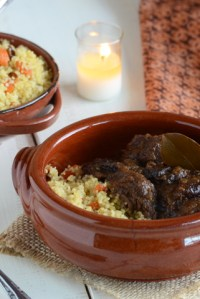 Moroccan-Inspired Beef Short Ribs with Jeweled Couscous