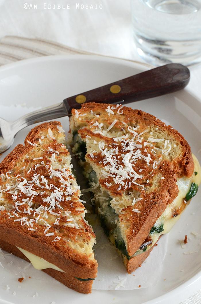Spinach-Mozzarella Grilled Cheese 3