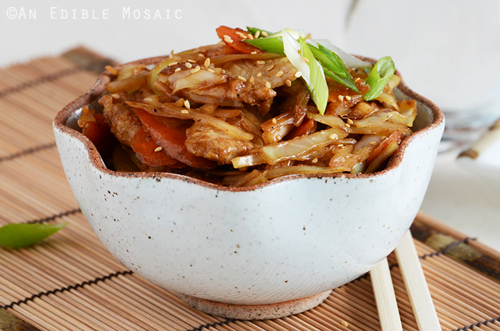 Cabbage, Carrot, and Chicken Stir-Fry 3