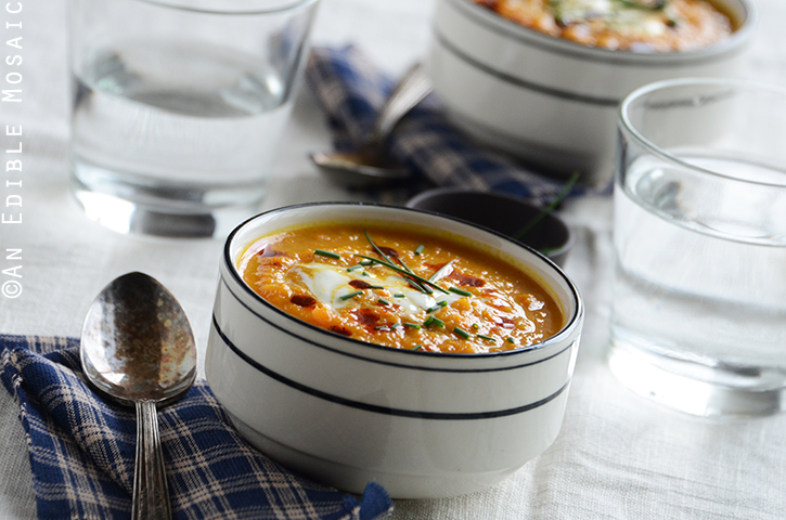Roasted Carrot-Apple Soup with Paprika Brown Butter 5