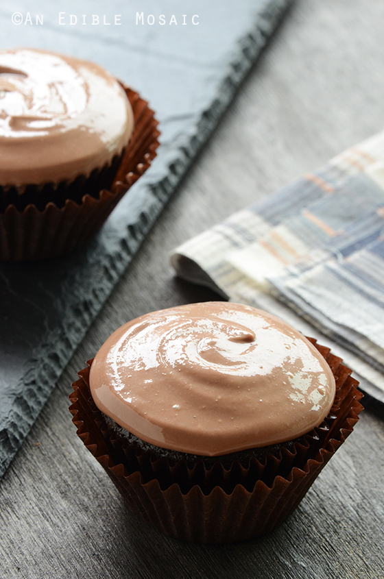 Chocolate Cupcakes for Two {Vegan}