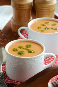 Creamy Wintertime Tomato Soup {Cooking Red to Remember}