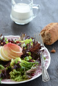 Festive Fall Salad with Homemade Blue Cheese Dressing {And a #GivingTuesday Giveaway}