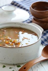 Nourishing Barley Soup with Homemade Stock