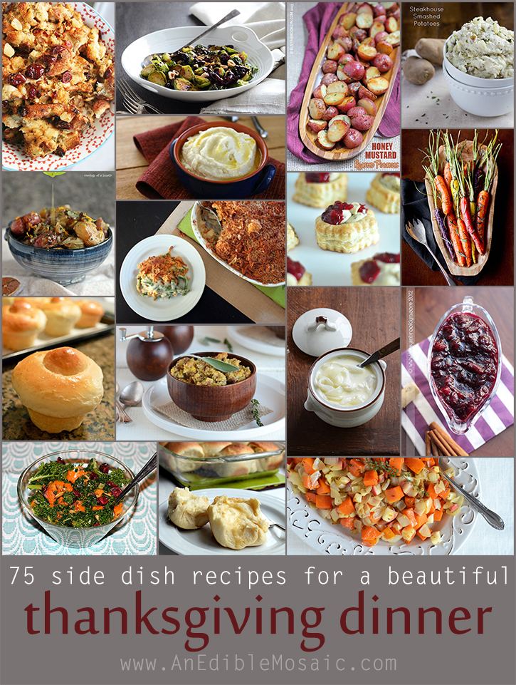 75 Side Dish Recipes For a Beautiful Thanksgiving Dinner