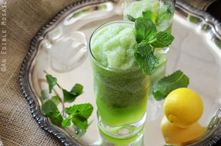 Limonana (Middle Eastern Frozen Mint Lemonade) 3