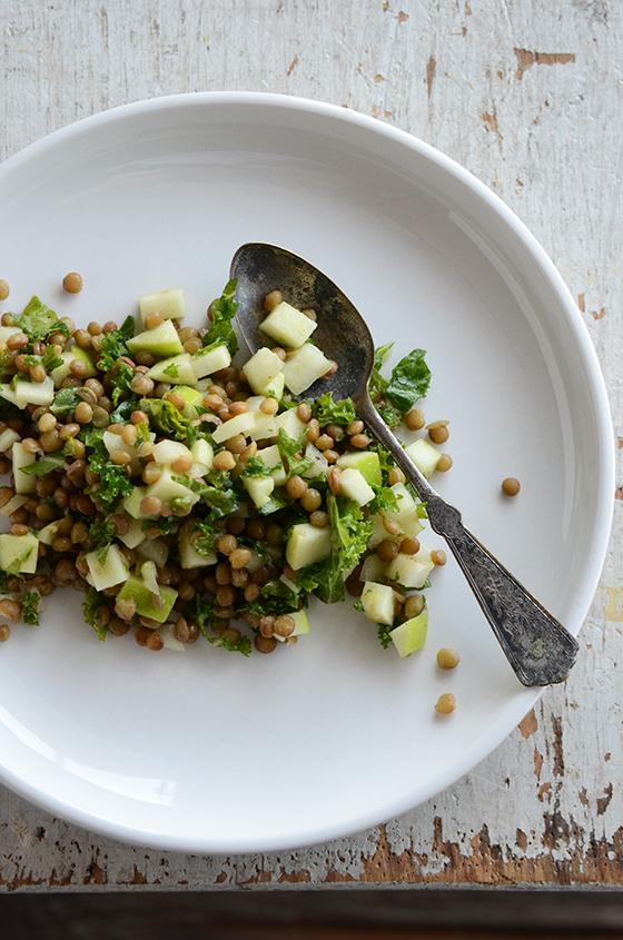 Pardina Lentil, Green Apple + Kale Salad
