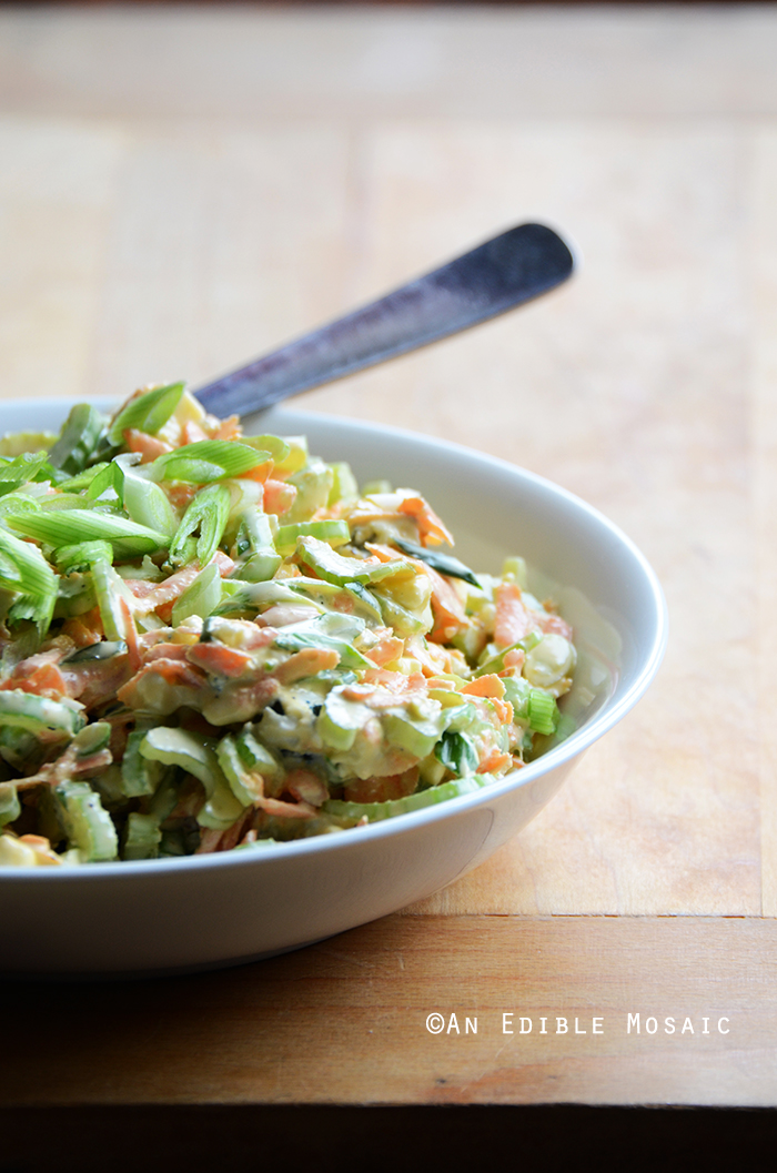 Spicy Blue Cheese Celery Slaw 2