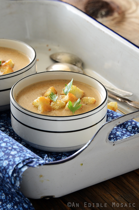Cream of Caramelized Onion and Cheese Chowder