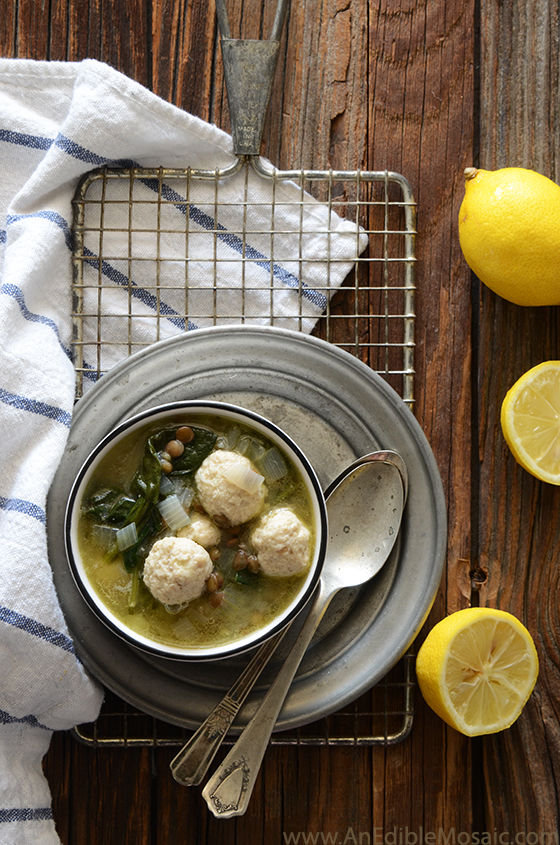 Lentil Soup with Spinach and Mini Chicken Meatballs 3