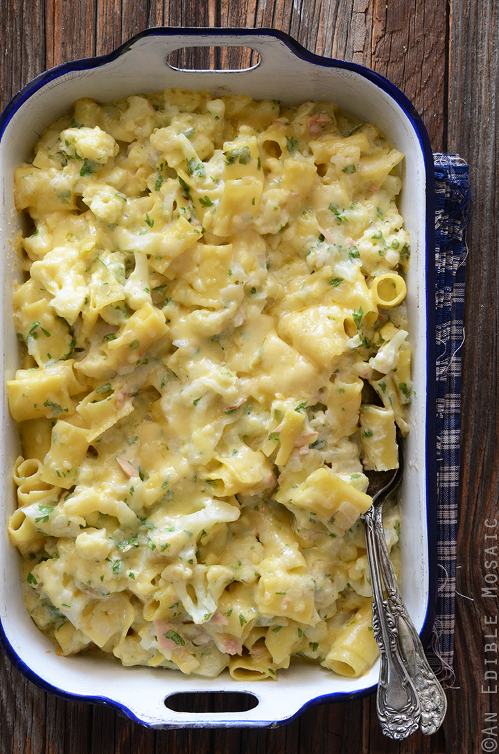 Mac and Cheese with Cauliflower, Tuna, and Egyptian Roumy Cheese 1