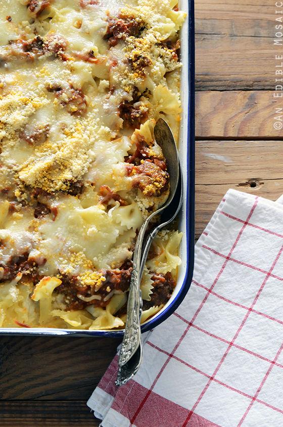 Quick Lasagna Casserole with Bowtie Pasta {aka Lazy Lasagna} 2