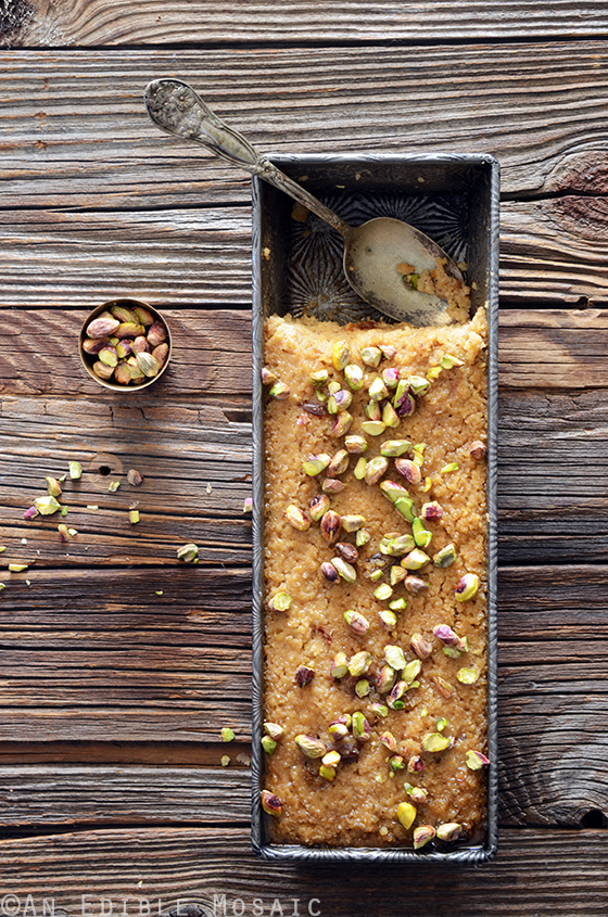 Middle Eastern Tahini, Date, and Cardamom Bulgur Wheat Breakfast Bake